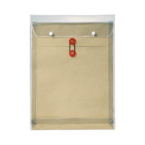 (まとめ) ピース マチヒモ付ビニール保存袋 レザック 角0 184g/m2 茶 919 1枚 【×30セット】