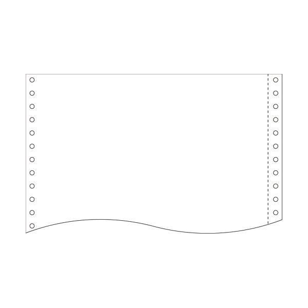 (まとめ)小林クリエイト 再生紙フォーム古紙70% 15×11インチ 白紙・1P R1511B-N 1箱(2000折) 【×2セット】