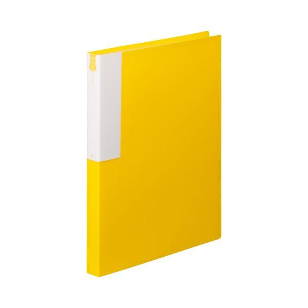 (まとめ) TANOSEE クリヤーブック(クリアブック) A4タテ 36ポケット 背幅24mm イエロー 1セット(10冊) 【×10セット】