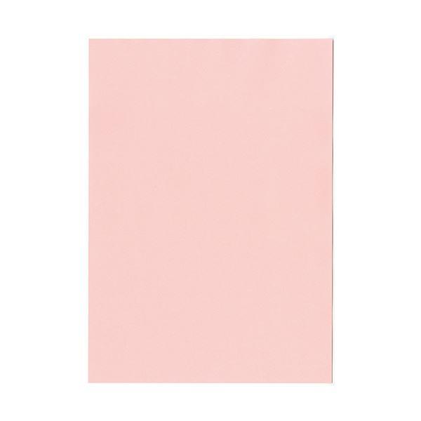 (まとめ) 北越コーポレーション 紀州の色上質A4T目 薄口 桃 1冊(500枚) 【×5セット】
