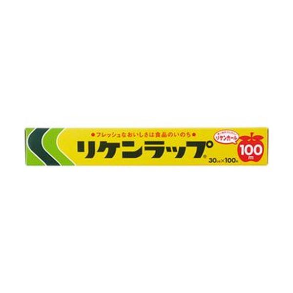 (まとめ)リケンファブロ 業務用リケンラップ 30cm×100m 1本【×50セット】