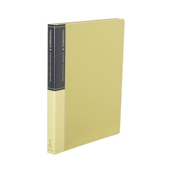 コクヨ クリヤーブック(タフネス)替紙式 A4タテ 30穴 15ポケット付属 背幅27mm 黄 ラ-F720Y 1セット(10冊)