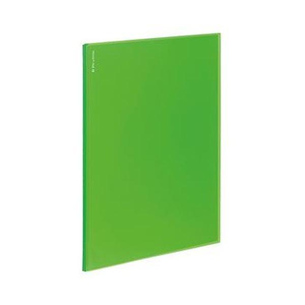 (まとめ)コクヨ ポケットファイルα(ノビータα)固定式 A4タテ 12ポケット 背幅3mm ライトグリーン ラ-NF12LG 1セット(10冊)【×5セット】