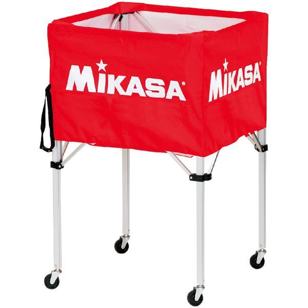 MIKASA(ミカサ)器具 ボールカゴ 箱型・大(フレーム・幕体・キャリーケース3点セット) レッド 【BCSPH】