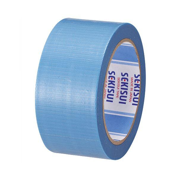 (まとめ) 積水化学 透明クロステープ No.781 50mm×25m 青 N78SB03 1巻 【×30セット】