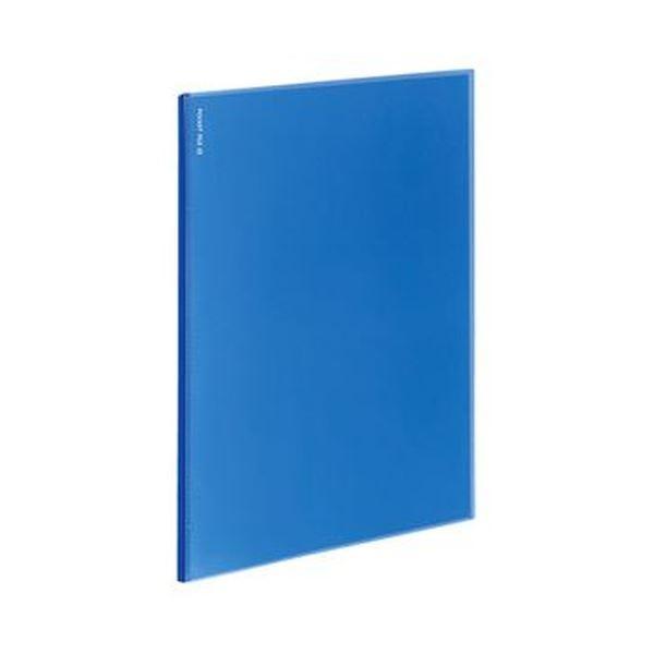 (まとめ)コクヨ ポケットファイルα(ノビータα)固定式 A4タテ 12ポケット 背幅3mm 青 ラ-NF12B 1セット(10冊)【×5セット】