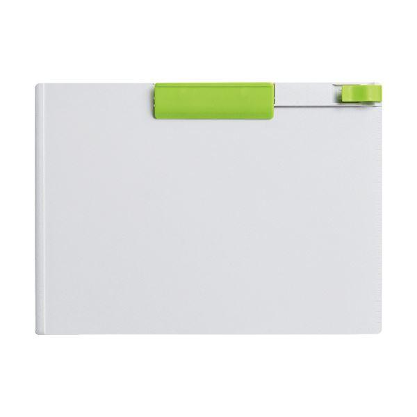 (まとめ) コクヨ クリップボード(K2) A4ヨコ黄緑 K2ヨハ-PS73YG 1枚 【×30セット】