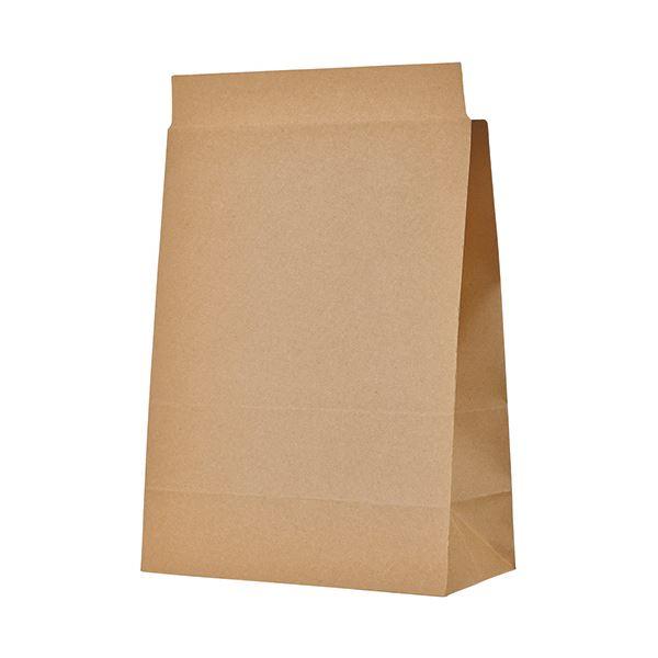 TANOSEE 宅配袋 マチ広 大 茶封かんテープ付 1セット(400枚:100枚×4パック)
