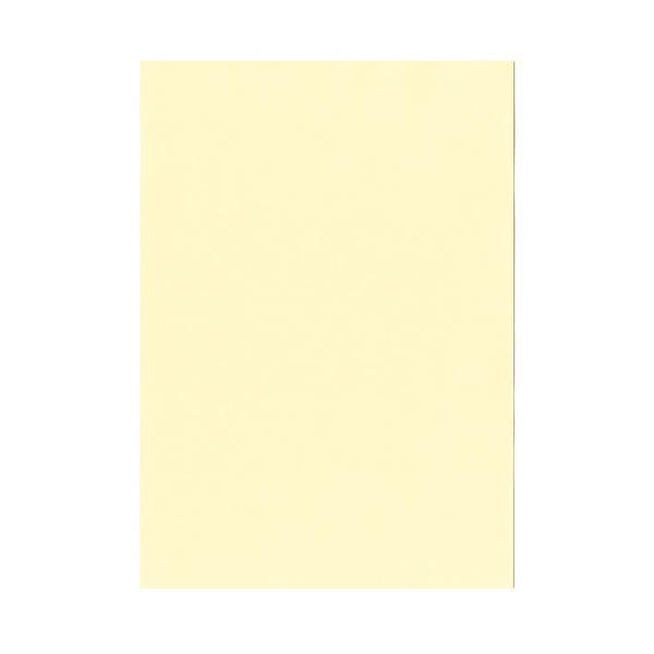 (まとめ) 北越コーポレーション 紀州の色上質A4T目 薄口 レモン 1冊(500枚) 【×5セット】