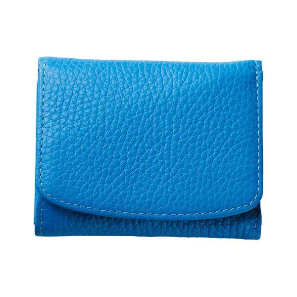 コンパクトな三つ折り財布 セール価格 ル プレリー三つ折り財布 最安値挑戦 ブルー 代引不可 NPS5570