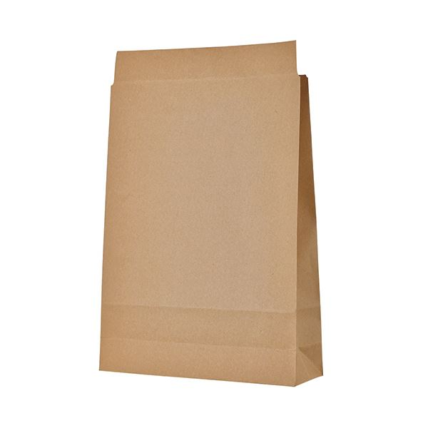 超目玉 作業の効率化に便利な 封かんテープ付 TANOSEE 宅配袋 大 400枚:100枚×4パック 茶封かんテープ付 1セット トラスト