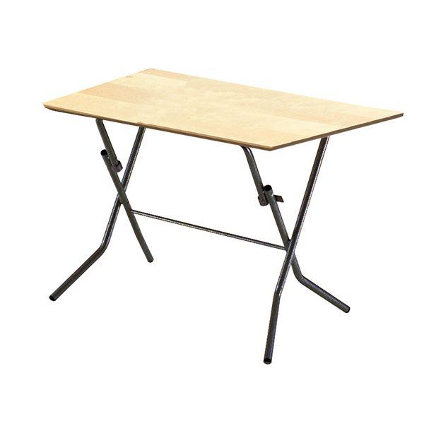 折りたたみテーブル 【幅90cm ナチュラル×ブラック】 日本製 木製 スチールパイプ 『スタンドタッチテーブル900』【代引不可】