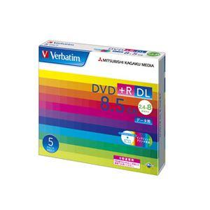 (まとめ) バーベイタム データ用DVD+R DL 8.5GB 8倍速 ワイドプリンターブル 5mmスリムケース DTR85HP5V1 1パック(5枚) 【×10セット】