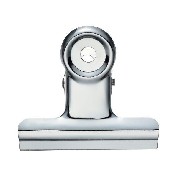 (まとめ) TANOSEE 目玉クリップ 中 口幅50mm 1セット(40個:10個×4箱) 【×10セット】