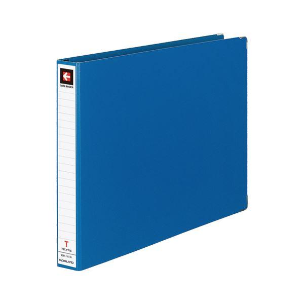 (まとめ) コクヨ データバインダーT(バースト用・レギュラータイプ) T11×Y15 22穴 280枚収容 青 EBT-151NB 1冊 【×30セット】