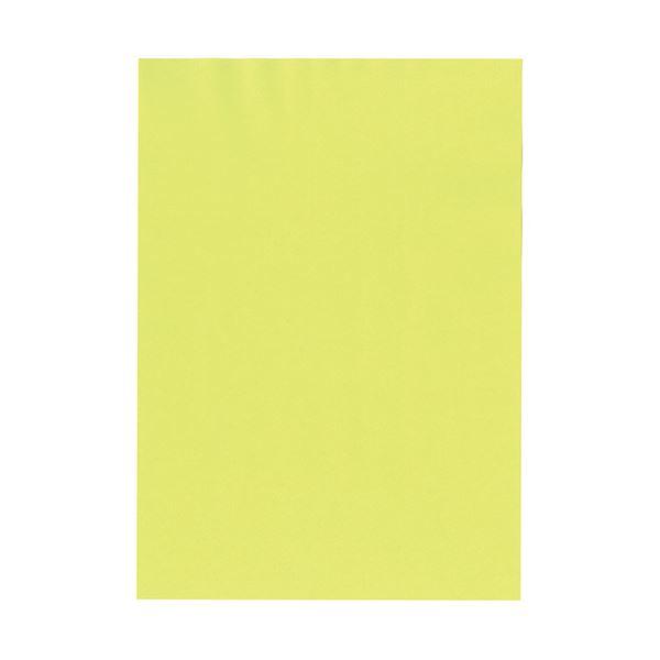 (まとめ) 北越コーポレーション 紀州の色上質A4T目 薄口 もえぎ 1冊(500枚) 【×5セット】