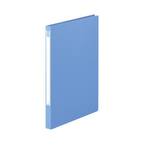 (まとめ) TANOSEE Zファイル(PP表紙) A4タテ 100枚収容 背幅20mm ブルー 1セット(10冊) 【×10セット】