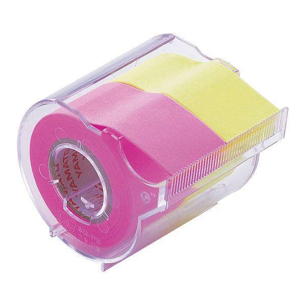(まとめ) ヤマト メモック ロールテープ カッター付 25mm幅 ローズ&レモン NORK-25CH-6A 1個 【×30セット】
