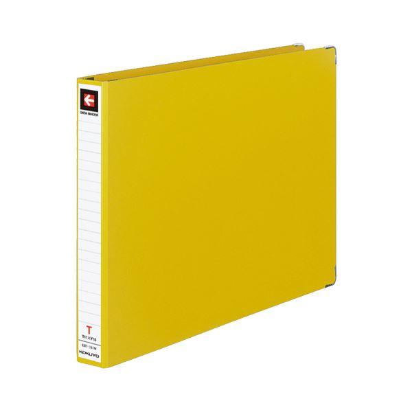 (まとめ) コクヨ データバインダーT(バースト用・レギュラータイプ) T11×Y15 22穴 280枚収容 黄 EBT-151NY 1冊 【×30セット】