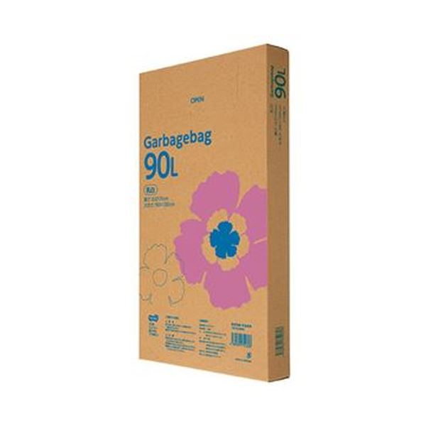 (まとめ)TANOSEE ゴミ袋エコノミー乳白半透明 90L BOXタイプ 1箱(110枚)【×5セット】