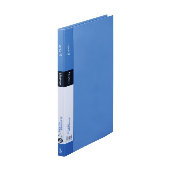(まとめ) キングジム シンプリーズ ZファイルA4タテ 120枚収容 背幅17mm 青 578SP 1セット(10冊) 【×10セット】