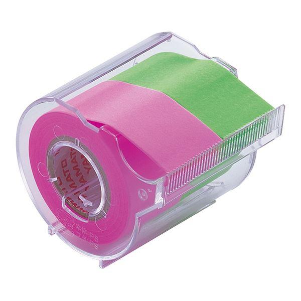 (まとめ) ヤマト メモック ロールテープ カッター付 25mm幅 ローズ&ライム NORK-25CH-6B 1個 【×30セット】