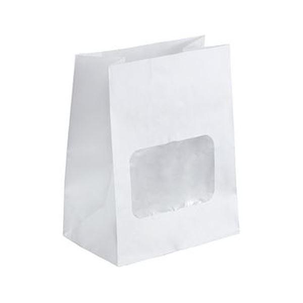 (まとめ)水野産業 ルックバッグ4S 白 1パック(100枚)【×20セット】