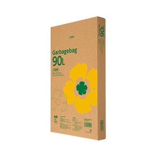 (まとめ)TANOSEE ゴミ袋エコノミー 半透明 90L BOXタイプ 1箱(110枚)【×5セット】