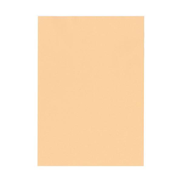 (まとめ) 北越コーポレーション 紀州の色上質A4T目 薄口 びわ 1冊(500枚) 【×5セット】