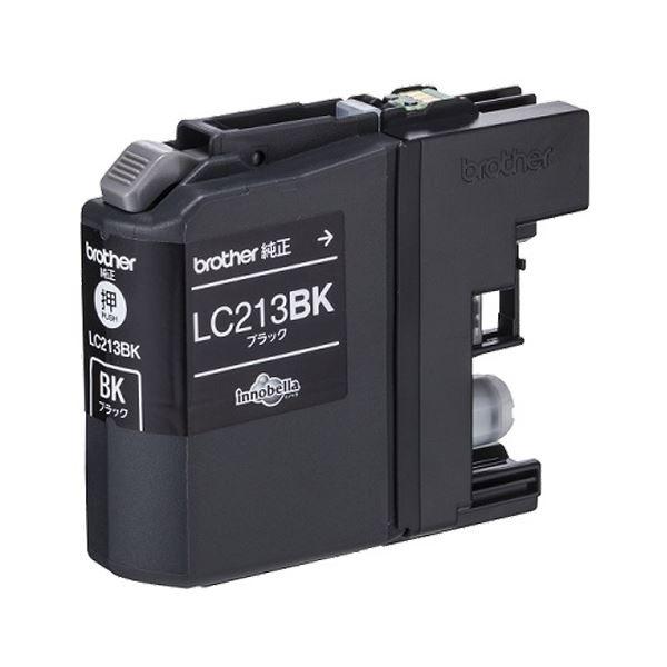 (まとめ) ブラザー インクカートリッジ ブラックLC213BK 1個 【×10セット】