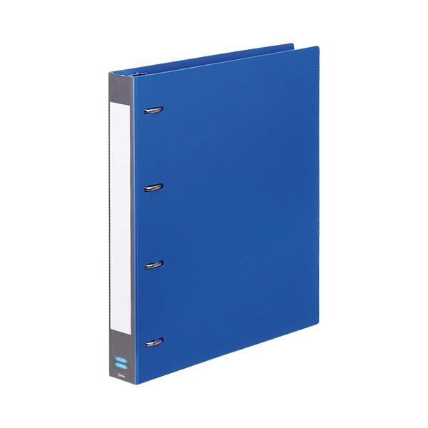 (まとめ) G-Aim Dリングバインダー A4タテ 4穴 280枚収容 背幅40mm ブルー G600-BL 1冊 【×30セット】