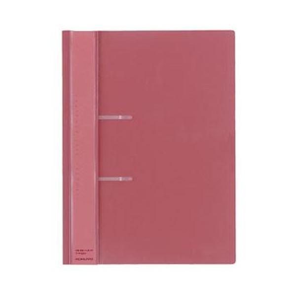 (まとめ)コクヨ ファスナーファイル(レポート)PP表紙 A4タテ 2穴 100枚収容 ピンク フ-P160P 1セット(20冊)【×3セット】