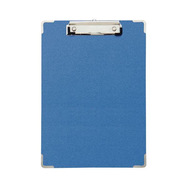 (まとめ)TANOSEE 用箋挟 A4タテ ブルー1セット(20枚) 【×2セット】