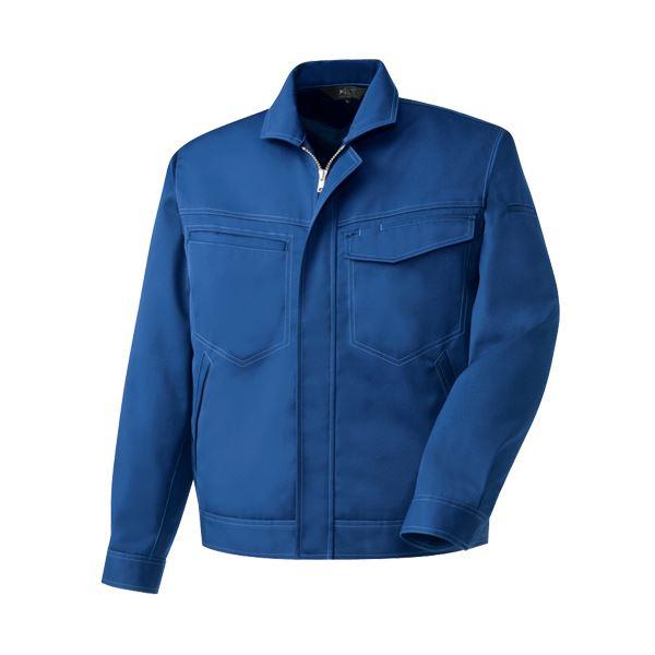 (まとめ)長袖ブルゾン 制電ソフトツイル ブルー Lサイズ【×3セット】