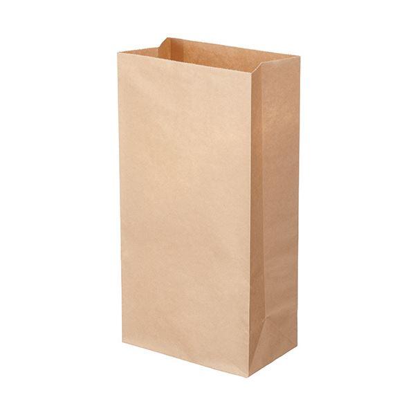 (まとめ) TANOSEE 角底袋 12号ヨコ180×タテ350×マチ幅105mm 未晒 1パック(500枚) 【×5セット】