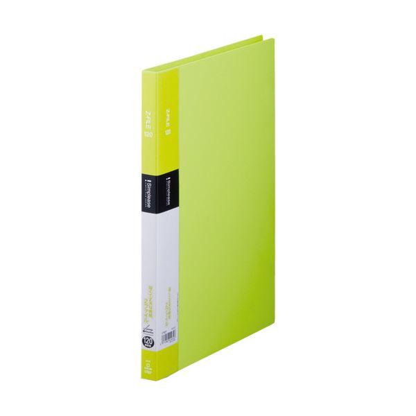 (まとめ) キングジム シンプリーズ ZファイルA4タテ 120枚収容 背幅17mm 黄緑 578SP 1セット(10冊) 【×10セット】