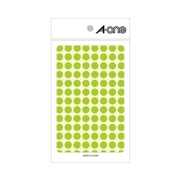 (まとめ) エーワン カラーラベル 丸型 直径9mm 蛍光緑 08172 1パック(416片:104片×4シート) 【×30セット】