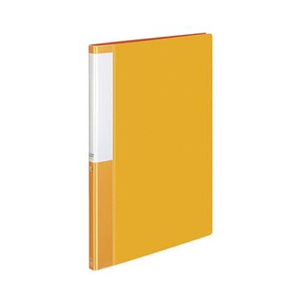 (まとめ)コクヨ クリヤーブック(POSITY)固定式 A4タテ 20ポケット 背幅15mm オレンジ P3ラ-L20NYR 1セット(10冊)【×5セット】