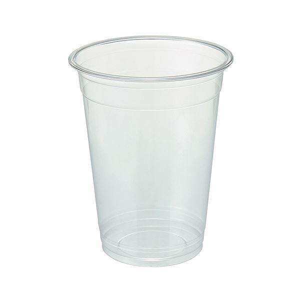 (まとめ)TANOSEE リサイクルPETカップ(広口)510ml(17オンス)1パック(50個)【×10セット】