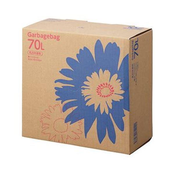 (まとめ)TANOSEE ゴミ袋 コンパクト乳白半透明 70L BOXタイプ 1箱(110枚)【×5セット】