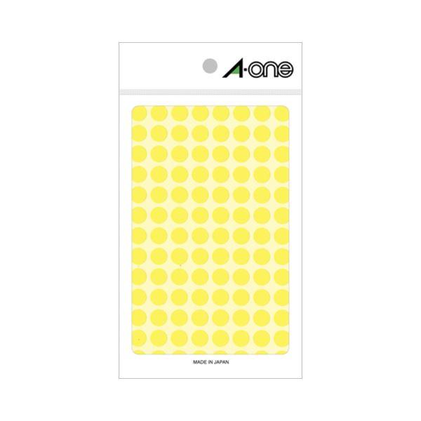 (まとめ) エーワン カラーラベル 丸型 直径9mm 蛍光黄 08173 1パック(416片:104片×4シート) 【×30セット】