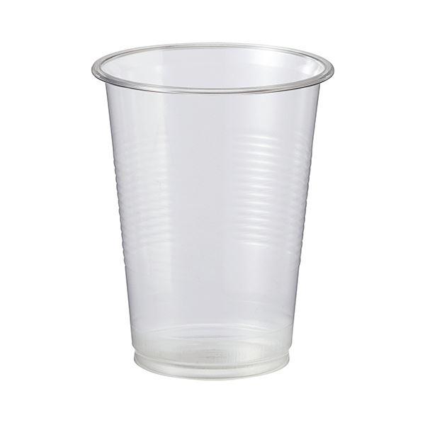 (まとめ)TANOSEE リサイクルPETカップ 220ml(7オンス)1パック(100個)【×10セット】