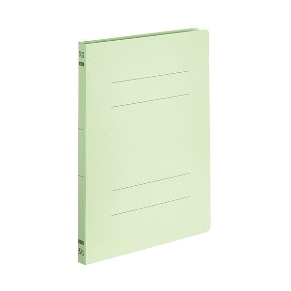 (まとめ) TANOSEEフラットファイルE(エコノミー) B5タテ 150枚収容 背幅18mm グリーン 1パック(10冊) 【×30セット】
