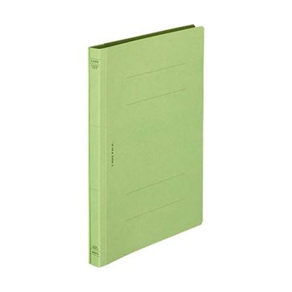(まとめ)ライオン事務器 フラットファイル(環境)樹脂押え具 B5タテ 150枚収容 背幅18mm 緑 A-529KB5S 1冊【×100セット】