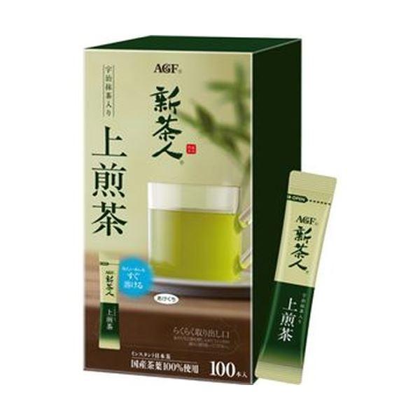 (まとめ)味の素AGF 新茶人インスタントティースティック 宇治抹茶入り上煎茶 0.8g 1セット(300本:100本×3箱)【×3セット】