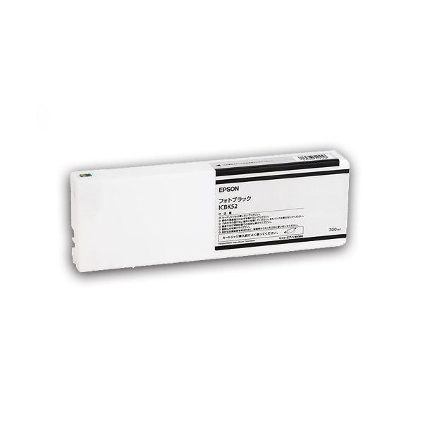 (まとめ) エプソン EPSON PX-P/K3(VM)インクカートリッジ フォトブラック 700ml ICBK52 1個 【×10セット】