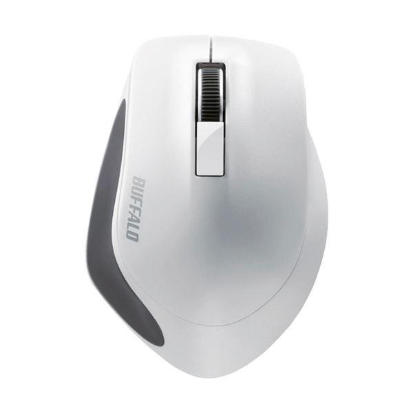 (まとめ) バッファロー 無線 BlueLED3ボタン プレミアムフィットマウス ホワイト BSMBW300MWH 1個 【×10セット】