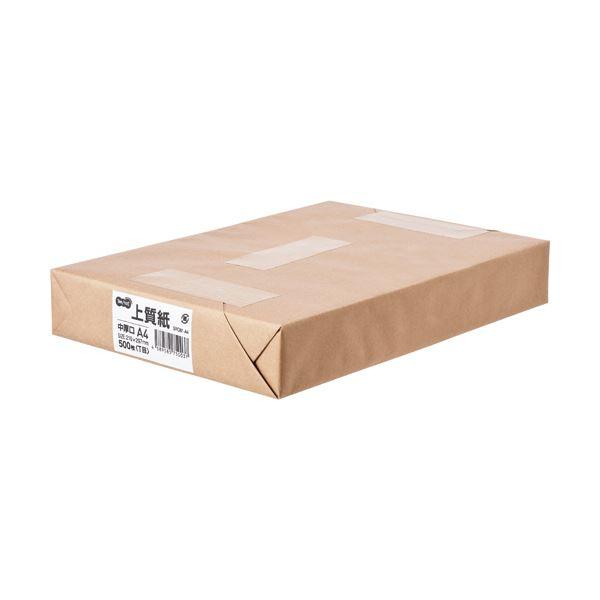 (まとめ) TANOSEE 上質紙 中厚口 A41冊(500枚) 【×5セット】