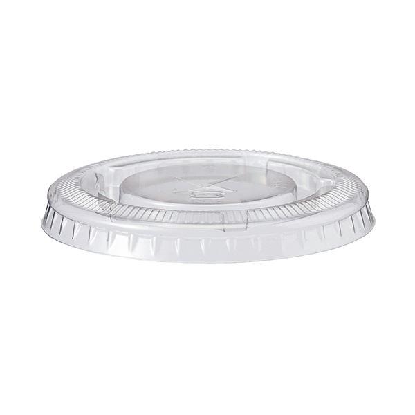 (まとめ)TANOSEE PETカップ フタ220ml用 1パック(100枚)【×10セット】