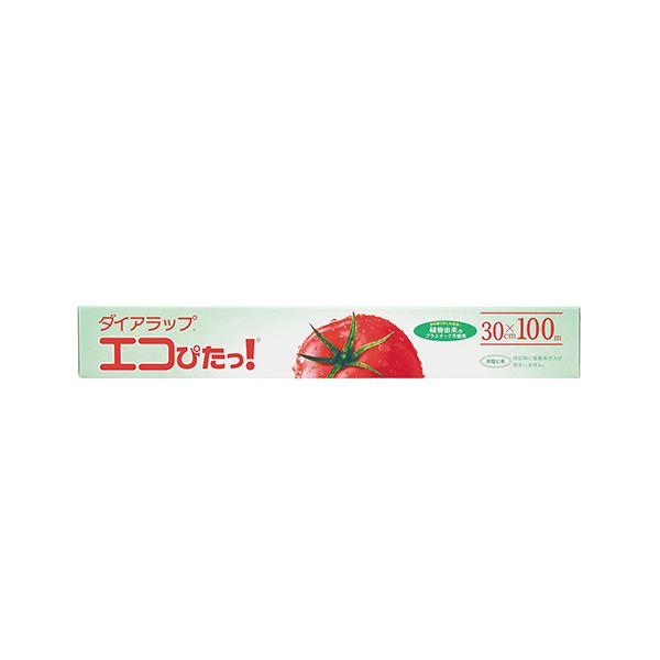 (まとめ)三菱樹脂 ダイアラップ エコぴたっ!30cm×100m 1本【×20セット】